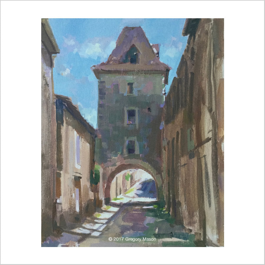 Greg Mason Painting in France