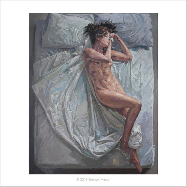 Female Nude Painting by Greg Mason