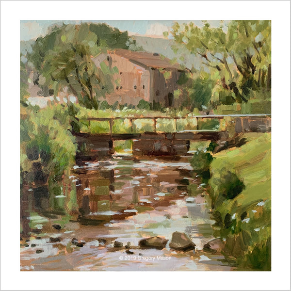 Wharfedale in Yorkshire near Burnsall painted by Greg Mason