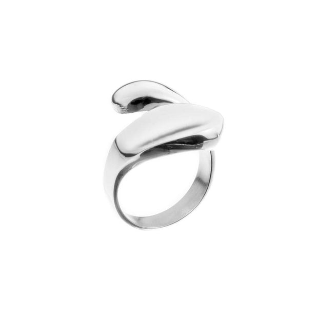 Silver Oval Bar Ring