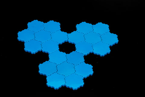 21 x 1-Hex Blue Water Tiles-All Things Heroscape