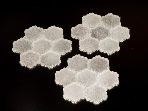 21 x 1-Hex Ice Tiles-All Things Heroscape