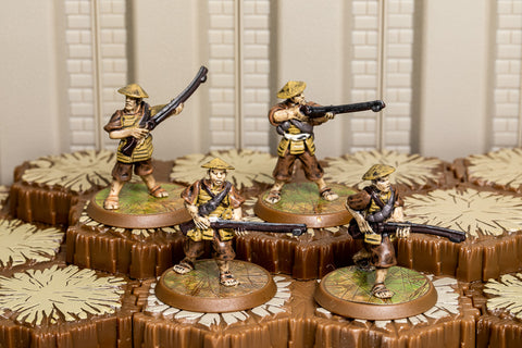Ashigaru Harquebus Riflemen - Common Squad-All Things Heroscape