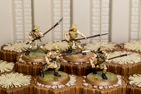 Ashigaru Yari Spearmen - Common Squad-All Things Heroscape