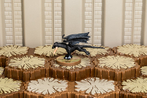Black Wyrmling - Common Hero-All Things Heroscape