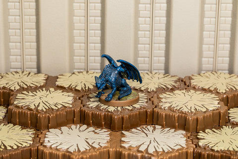 Blue Wyrmling - Common Hero-All Things Heroscape