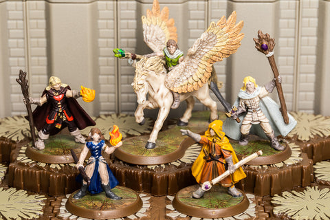 Elf Unique Heroes Set - Ulginesh Emirroon Arkmer Chardris Jorhdawn-All Things Heroscape
