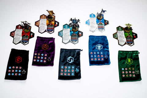 Crest of The Valkyrie - Complete Set of 5 Flag Bearers-All Things Heroscape
