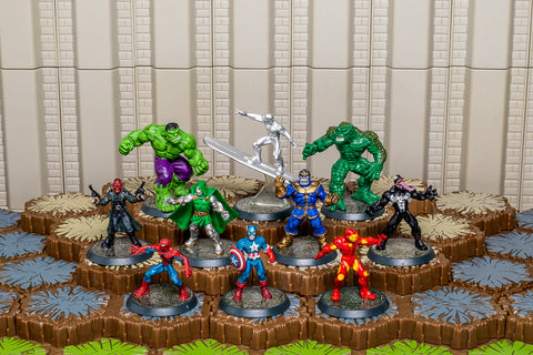 Complete Marvel: Conflict Begins - 10 Figures Only Set-All Things Heroscape