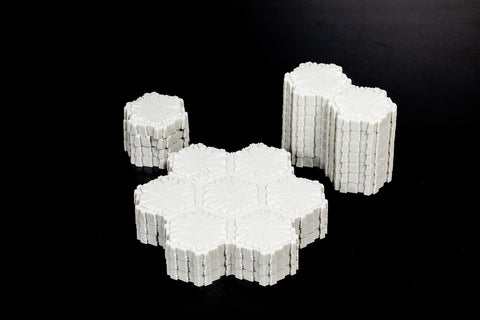 Marvel Concrete Terrain - 39 Hexes-All Things Heroscape