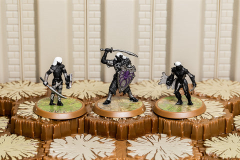 Deepwyrm Drow - Common Squad-All Things Heroscape