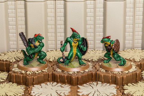Greenscale Warriors - Common Squad-All Things Heroscape