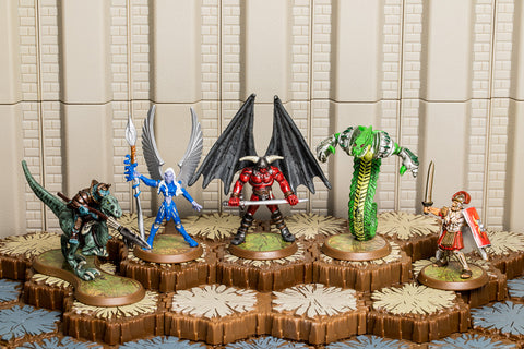 Heroes of Bleakwoode - Unique Heroes Set - Kelda Marcus Decimus Gallus Taelord Venoc Warlord Tornak-All Things Heroscape