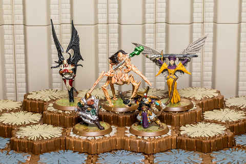 Heroes of Durgeth - Unique Heroes Set - Kee-Mo-Shi Eldgrim Empress Kiova Runa Kaemon Awa-All Things Heroscape