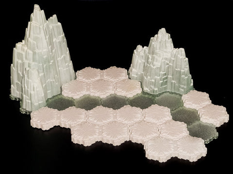 "Mini Tundra Terrain Set ""B""-All Things Heroscape"