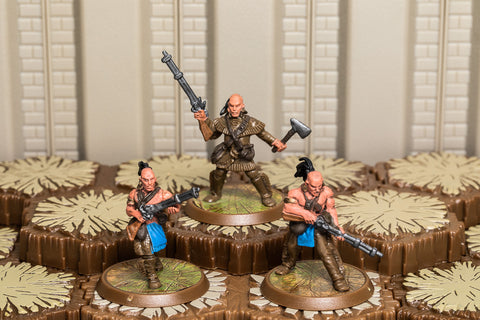 Mohican River Tribe - Common Squad-All Things Heroscape