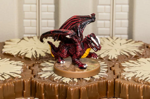 Red Wyrmling - Common Hero-All Things Heroscape