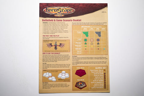 ROTV 1st Ed - Battlefield Game and Scenario Booklet-All Things Heroscape