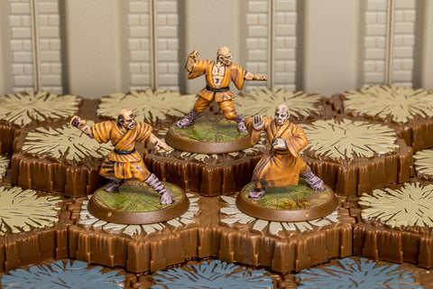 Shaolin Monks - Common Squad-All Things Heroscape