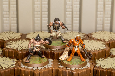 Gladiator Unique Heroes - Crixus Retiarius Spartacus-All Things Heroscape