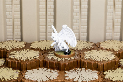 White Wyrmling - Common Hero-All Things Heroscape