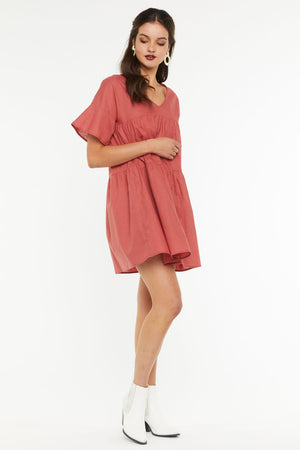 Finley Swing Dress - Rusty