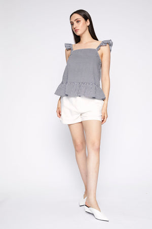 Gretchen Ruffle Strap Top