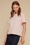 Roxy Ruffle Top - Blush