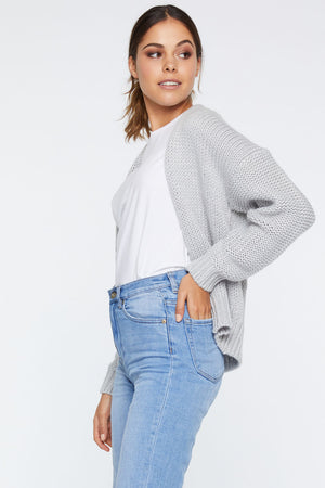 Sienna Crop Cardigan - Grey
