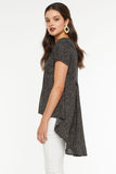 Joanna Waterfall Tail Top - Black