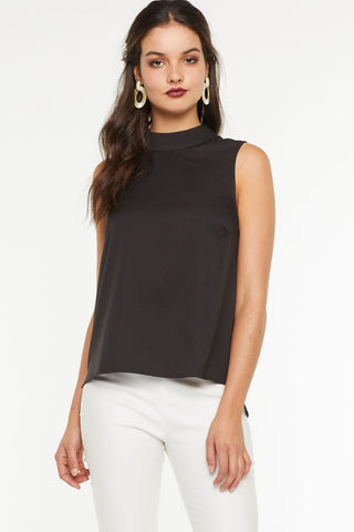 Imogen Cross Front Top- Black