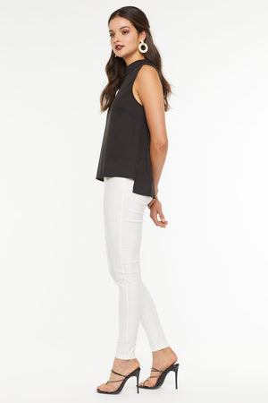 Hailey High Neck Top- Black