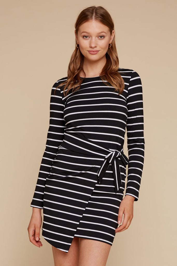 Brendi Tie Front Tee Dress