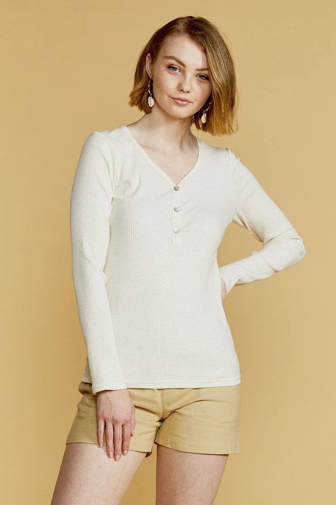Elise Rib Long Sleeve Top