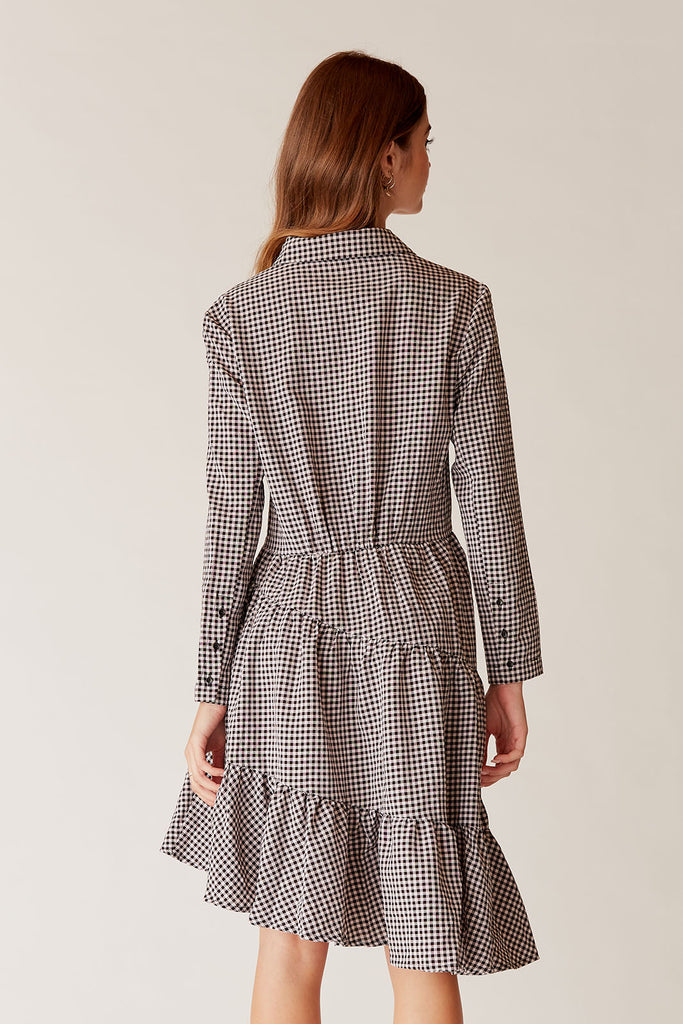 Tara Gingham Shirt Dress