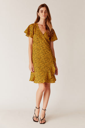 Estelle Wrap Mini Dress