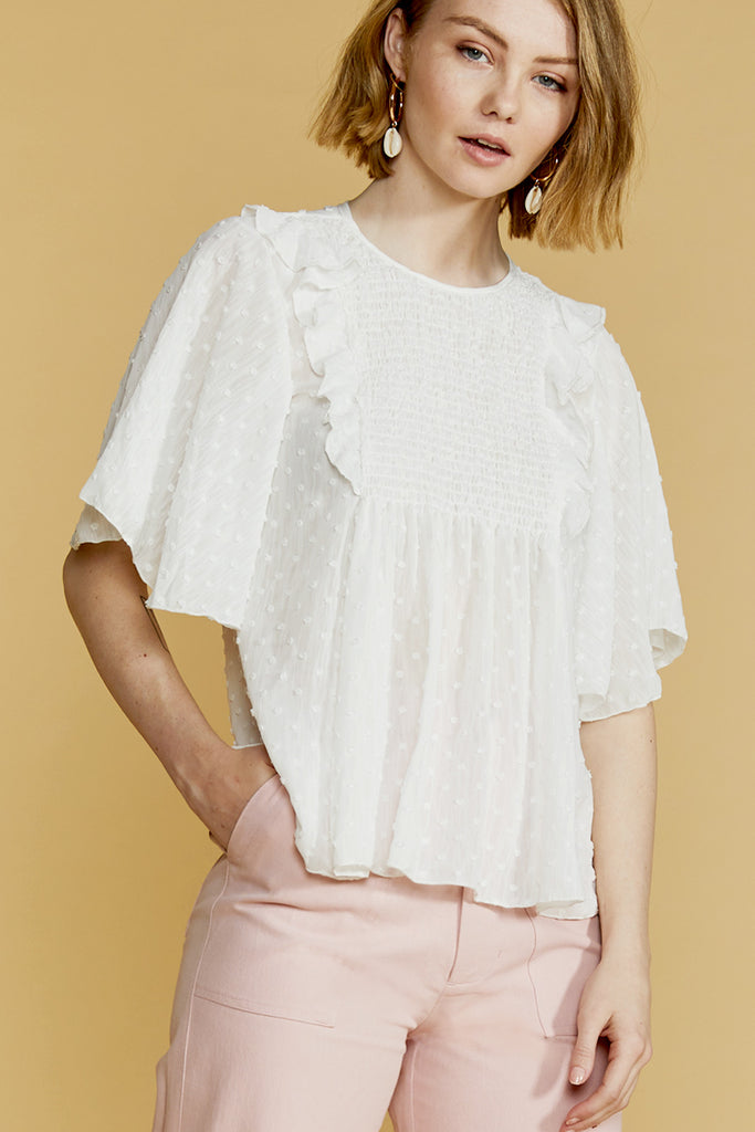 Heather Bib Front Blouse