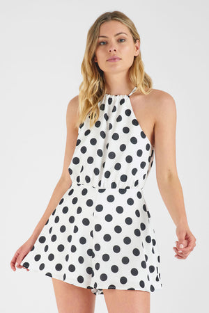 Sasha Polka Dot Playsuit