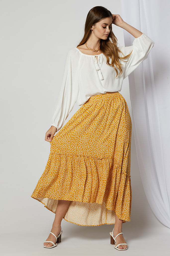 Morgan High-Low Maxi Skirt