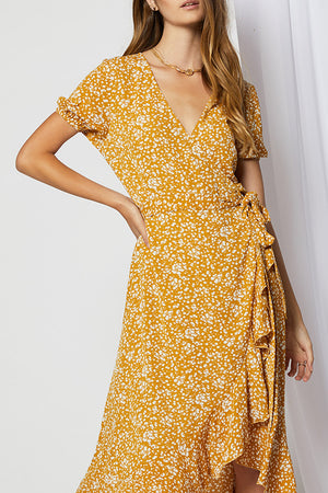 Marlon Wrap Midi Dress