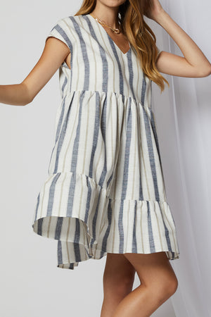 Rosa Striped Swing Dress