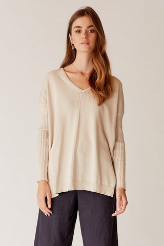 Ellie Twisted Crop Knit