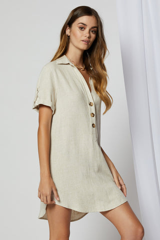 Finley Swing Dress - Khaki
