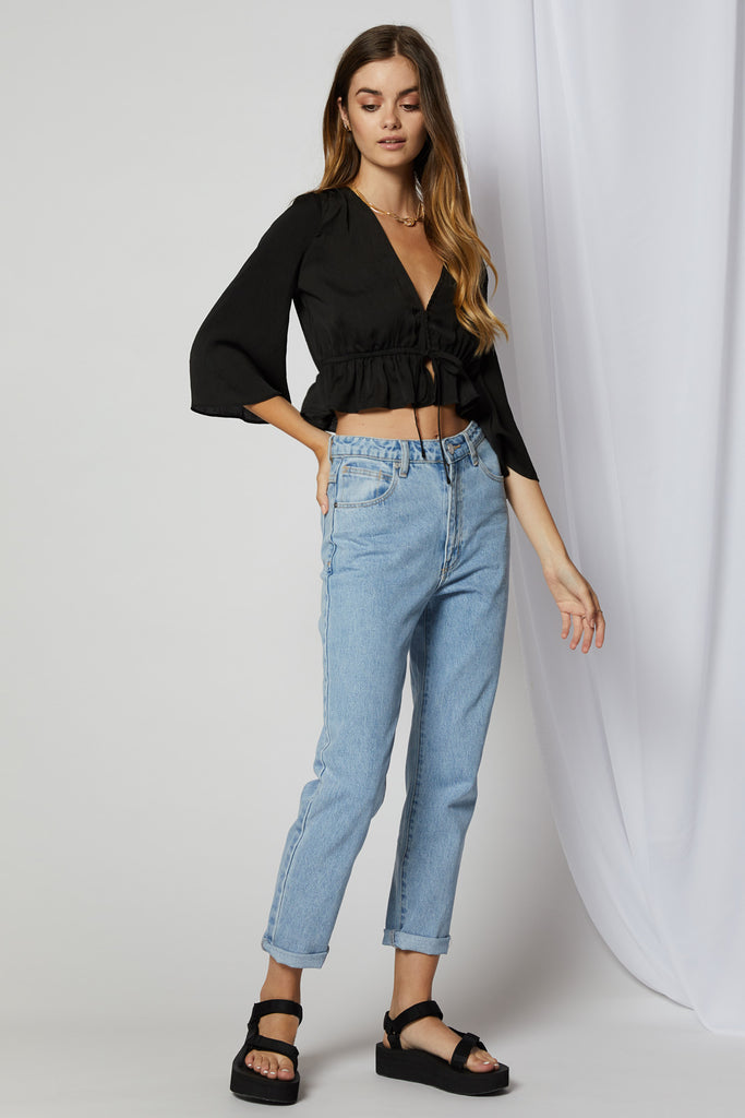 Kyra Ruffle Crop Top