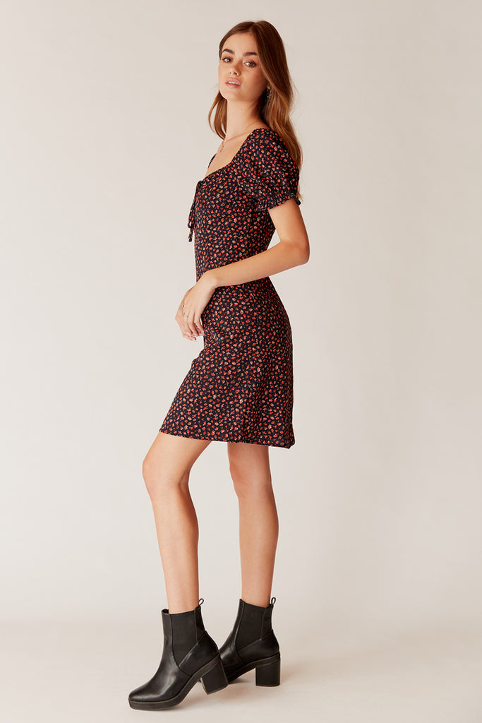 Karine Puff Sleeve Mini Dress