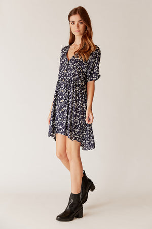 Esther Button Swing Dress