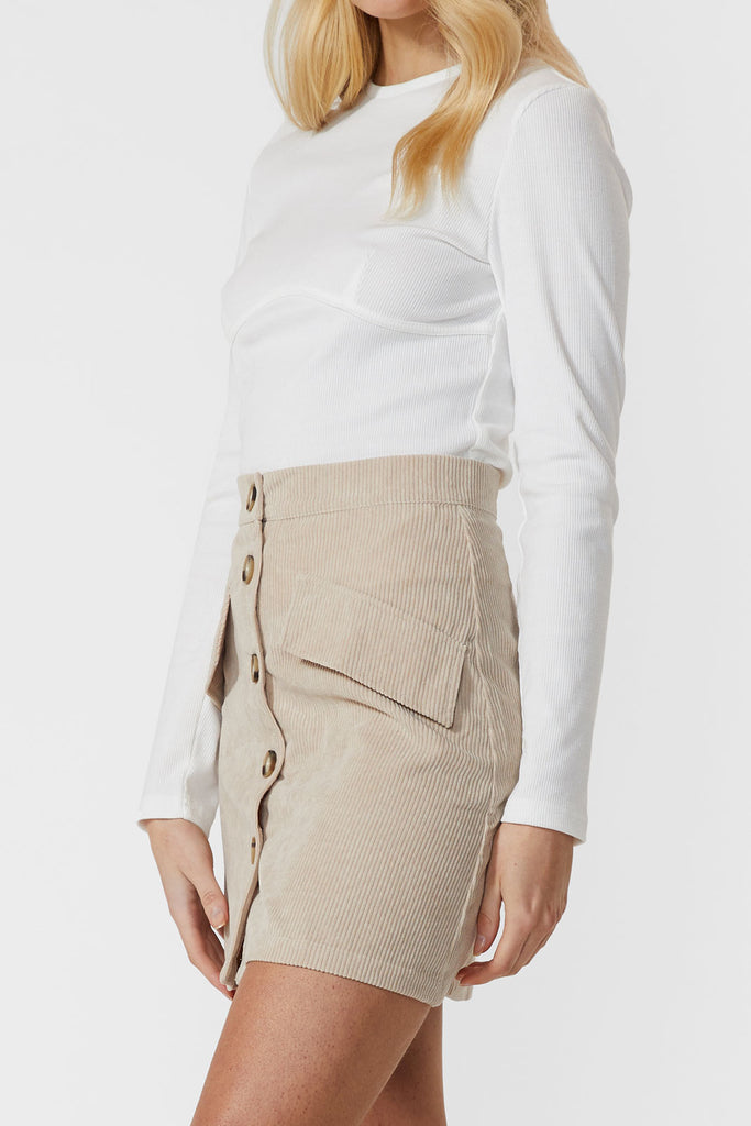 Berkley Mini Cord Skirt