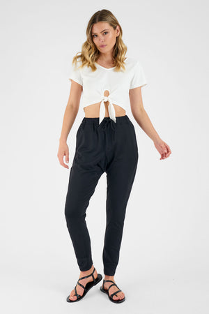 Helly Tie Front Crop Top