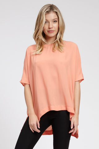 Waterfall Singlet - Peach