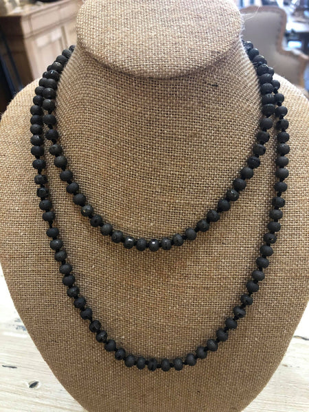 Tumbled Bead Layering Necklace